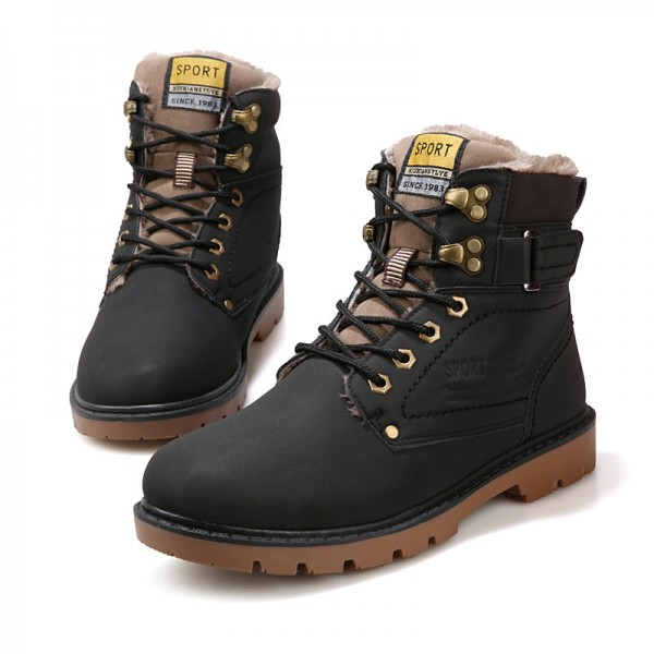 Mens Winter Warmest Motorcycle Boots Military Tactical Male Work Safety Desert Shoes Combat Russian style Snow Boots