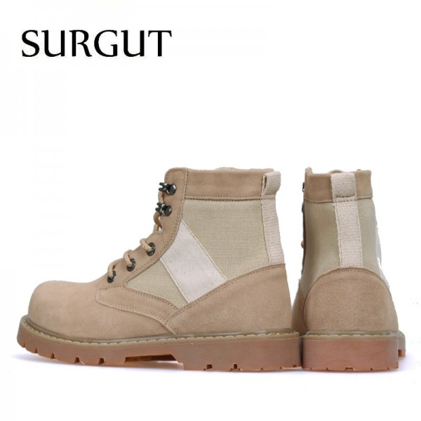 Mens Working Boots Oxford Ankle Boots Autumn Winter Shoes High Quality Suede Leather Boots Mens Footwear Extra Image 2