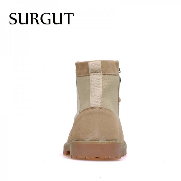 Mens Working Boots Oxford Ankle Boots Autumn Winter Shoes High Quality Suede Leather Boots Mens Footwear Extra Image 4