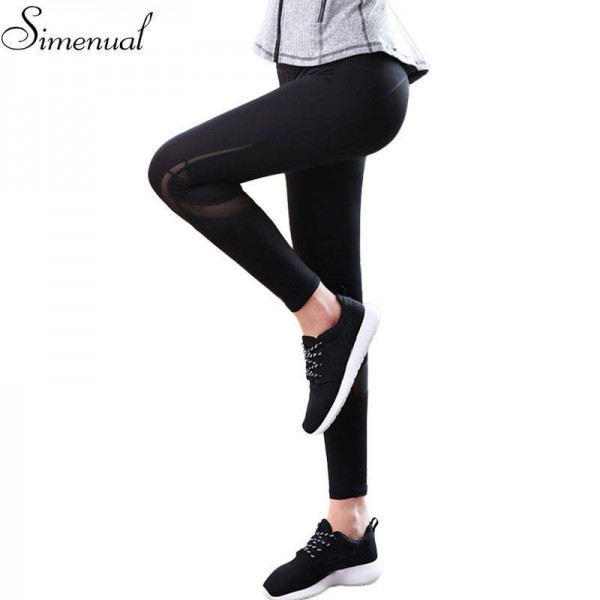 Mesh Splice Fitness Leggings Pants For Women Clothes Slim Sexy Push Up Leggings For WOmen Elastic Pants Thumbnail