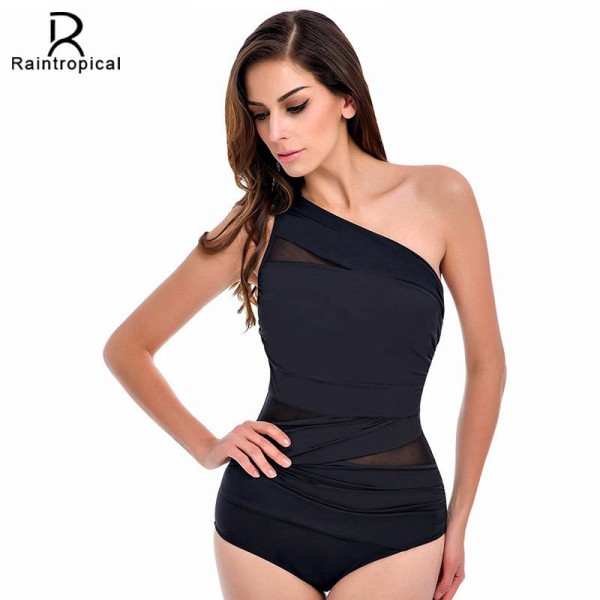 Mesh Zipper Swimsuits One Piece Sexy Swimwear Beach Black White Bodysuits Customized Sexy Plus Size Suits Extra Image 0