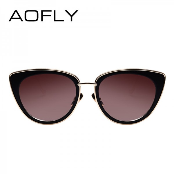 Metal Frame Cat Eye Women Sunglasses Female Sunglasses Famous Brand Designer Alloy Legs Glasses oculos de sol Extra Image 3