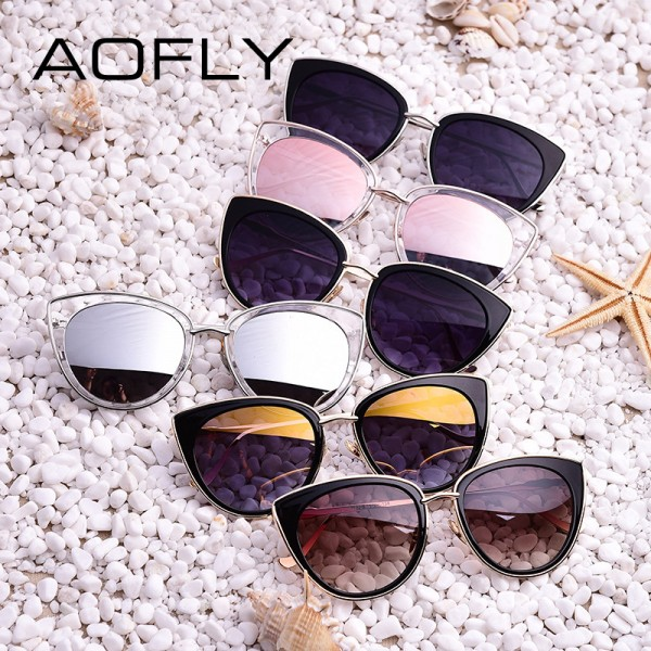 Metal Frame Cat Eye Women Sunglasses Female Sunglasses Famous Brand Designer Alloy Legs Glasses oculos de sol Extra Image 6
