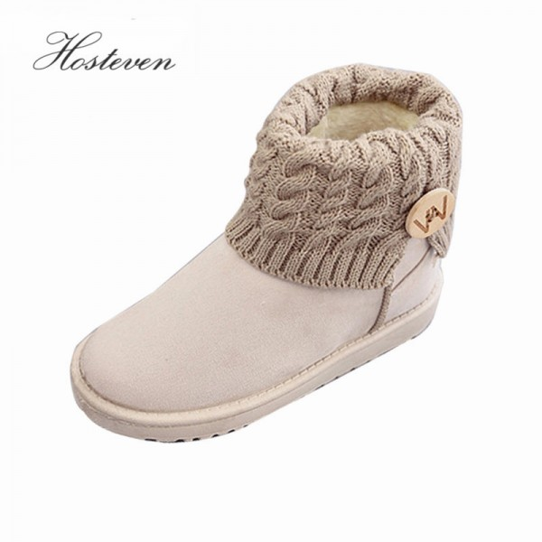 Mid Calf Boots Thick Plush Flock Women Shoes Warm Winter Snow Boots Girls Designer Trending Shoes For Winter Extra Image 1