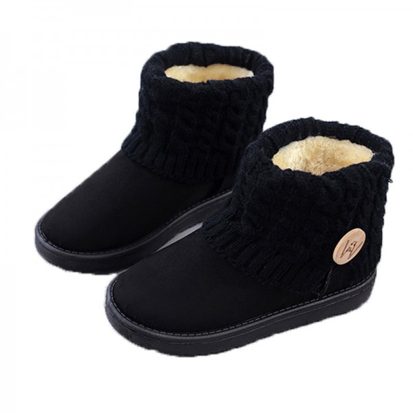 Mid Calf Boots Thick Plush Flock Women Shoes Warm Winter Snow Boots Girls Designer Trending Shoes For Winter Extra Image 4