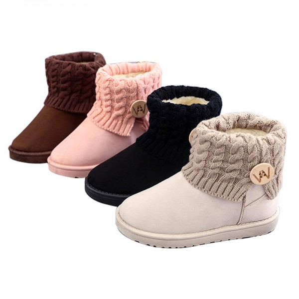 Mid Calf Boots Thick Plush Flock Women Shoes Warm Winter Snow Boots Girls Designer Trending Shoes For Winter Extra Image 5