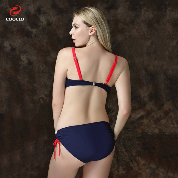 Mid Waist Bikini Swimsuits For Female Patchwork Plus Size Beachwear Push Up Red Bathing Suits For Women Extra Image 3