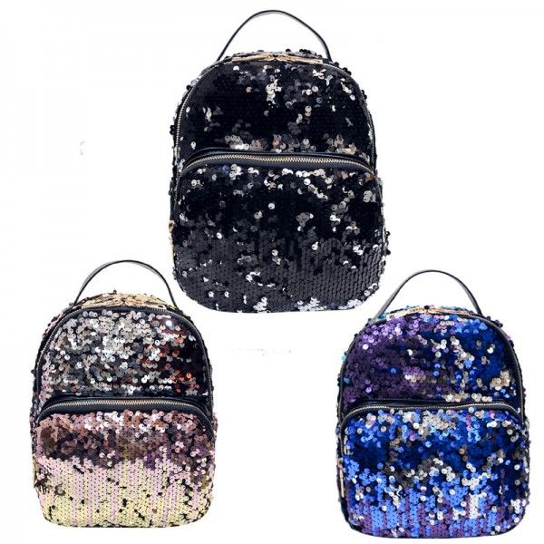 Mojoyce Women All Match Pu Leather Backpacks Small Girls School Bags Travel Princess Bling Backpacks New Arrival Extra Image 2
