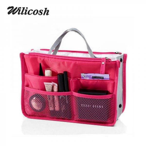 Multifunction Nylon Makeup Organizer Bags For WOmen Cosmetic Bags Toiletry Kits Travel Bags For Women Thumbnail