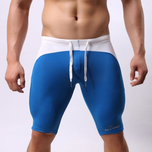 Multifunction Sport Wear Shorts Men Swimwear Swimming Shorts Brave Person Trunks Sexy Swimsuit Swim Boxer Briefs