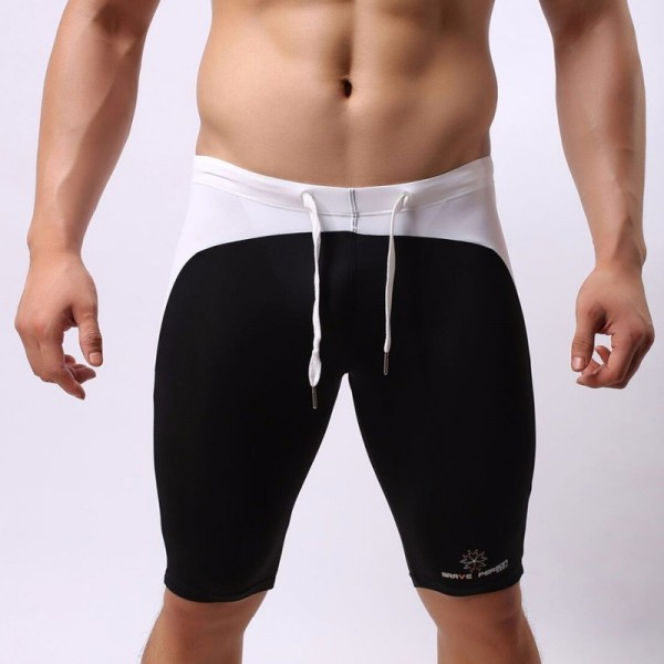 Multifunction Sport Wear Shorts Men Swimwear Swimming Shorts Brave Person Trunks Sexy Swimsuit Swim Boxer Briefs Extra Image 3