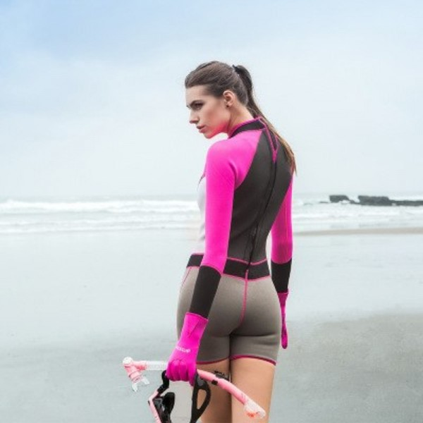 Neoprene Short Women Scuba Diving Suits One Pieces Snorkeling Equipment Wetsuits Surfing Rash Guards Bodysuits Extra Image 3
