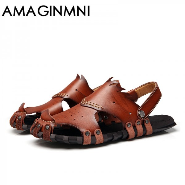 New 2018 Collection Of Slipper Genuine Leather Sandals Latest Casual Mens Summer Shoes Beach Flip Flops Extra Image 5