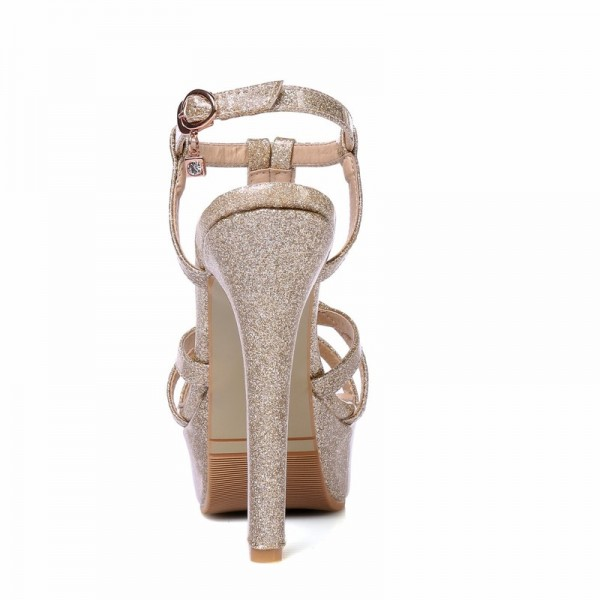 New 2018 Summer Gladiator Woman Sandals Fashion Platform High Heel Luxury Gold Silver pink Red Wedding Shoes Woman Extra Image 2