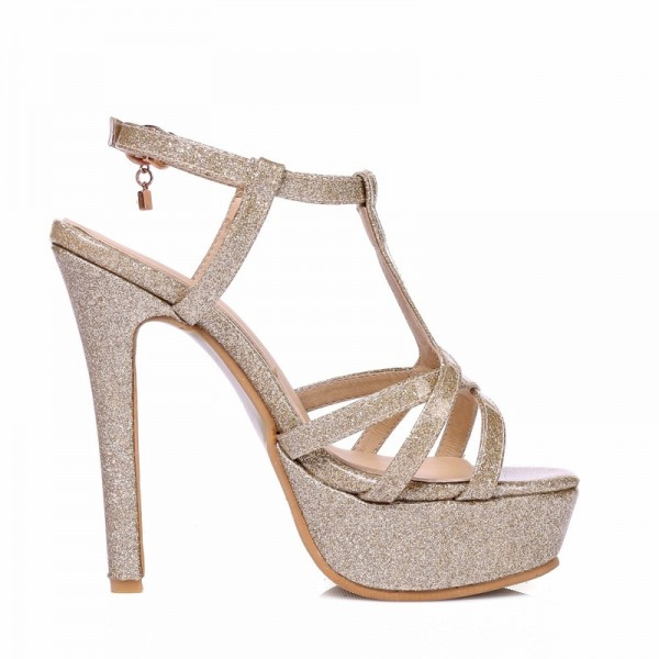 New 2018 Summer Gladiator Woman Sandals Fashion Platform High Heel Luxury Gold Silver pink Red Wedding Shoes Woman Extra Image 3