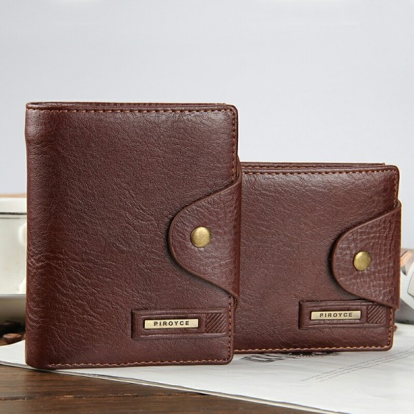 New 2019 Genuine Leather Brand Men Wallets Design Short Small Wallets Male Mens Purses Card Holder Purse Extra Image 2