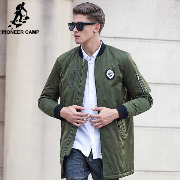 Buy New Army Green Autumn Winter Jacket Coat Men Brand Clothing Top