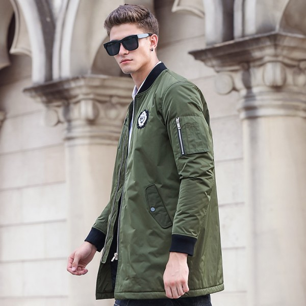 New army green autumn winter jacket coat men brand clothing top quality Male cotton coat fashion casual Extra Image 3