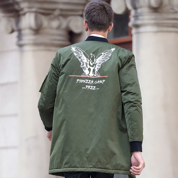 New army green autumn winter jacket coat men brand clothing top quality Male cotton coat fashion casual Extra Image 4