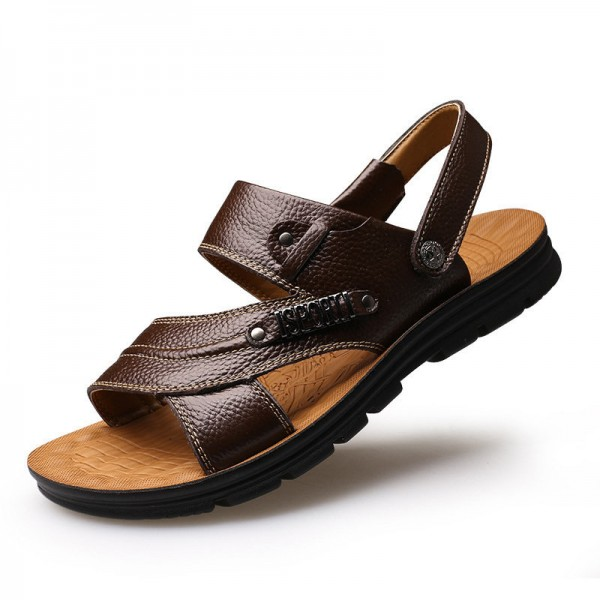 14c27d761 new-arrival-2018-men-summer-sandals-mens-genuine-leather-shoes-casual-beach- sandals-slippers-flats-shoes-extra-image-2.jpg