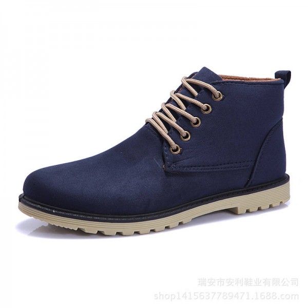 New Arrival Fashion Boots For Men Ankle Boots Casual Canvas Round Toe For Men Thumbnail