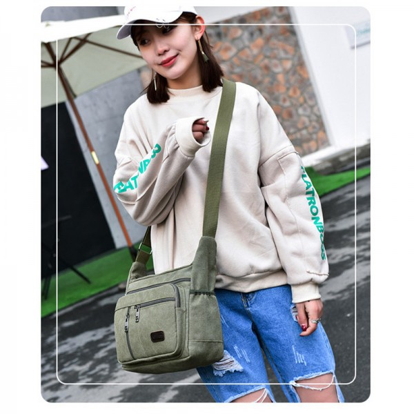 New Arrival Fashion Business Canvas Men Messenger Bags 2019 Latest Crossbody Shoulder Bag Casual Man Bag Extra Image 4