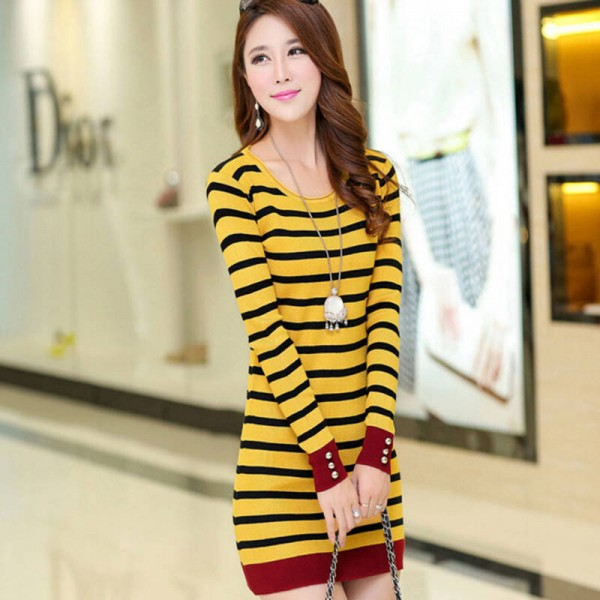 New Arrival Fashion Round Collar Knitted Pullover High Quality Sweaters For Women Extra Images 1