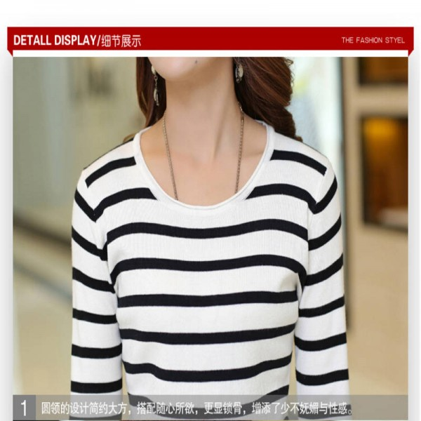 New Arrival Fashion Round Collar Knitted Pullover High Quality Sweaters For Women Extra Images 3