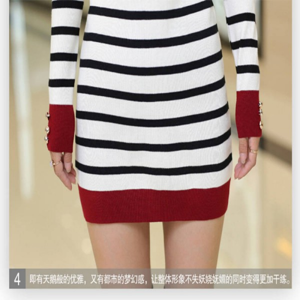 New Arrival Fashion Round Collar Knitted Pullover High Quality Sweaters For Women Extra Images 5