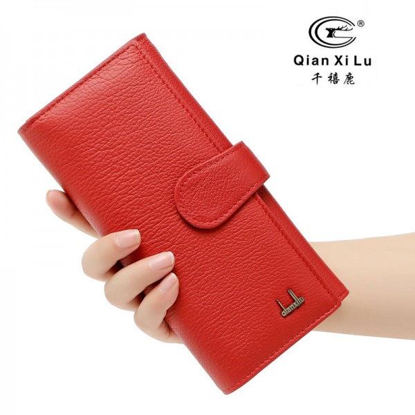 New Arrival Genuine Leather Wallets For Women Real Cowhide New Long Design Female Clutch For Ladies Thumbnail