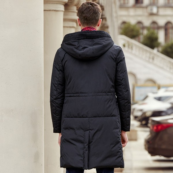 New arrival long thick brand winter duck down jacket men Top quality fashion warm white duck down coat male Extra Image 4