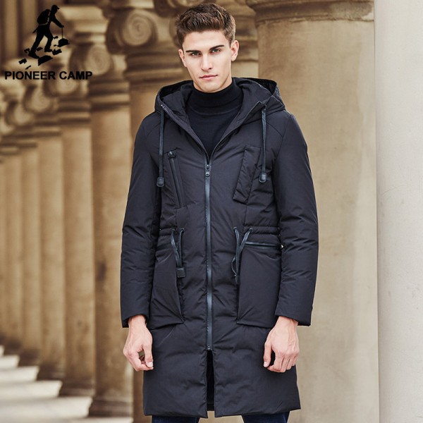 New arrival long thick brand winter duck down jacket men Top quality fashion warm white duck down coat male Extra Image 5