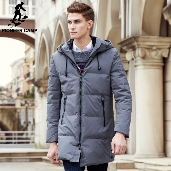 New arrival long winter duck down jacket men top quality brand men thick warm down coat fashion male parkas Extra Image 2