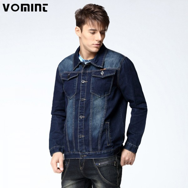 New Arrival Mens Denim Jacket Coat Hip Hot Loose Fit Wash Cotton Big Men Large Size Blue Denim Jackets Male Outwear Extra Image 1