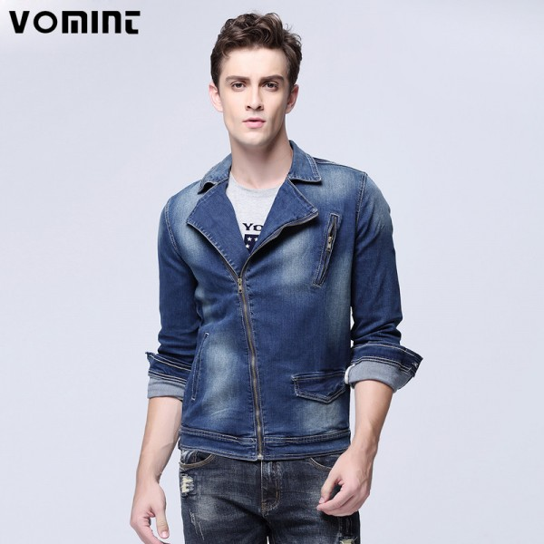 New Arrival Mens Locomotive Jeans Jacket Zipper Placket Denim Trucker Jacket Fashion Plus Size Denim Coats For Men Extra Image 1