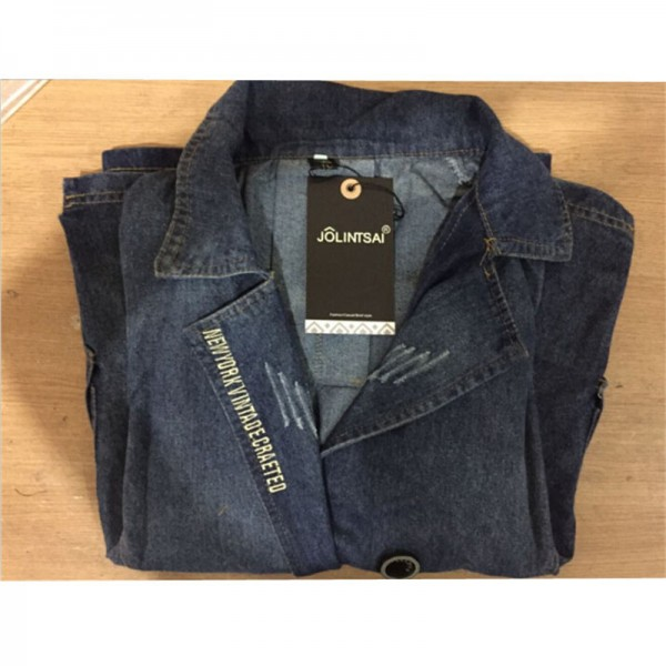 New Arrival Plus Size Women Denim Jacket Vintage Fashion Jeans Coat Casacos Femininos Ladies Casual Slim Denim Coats Extra Image 6