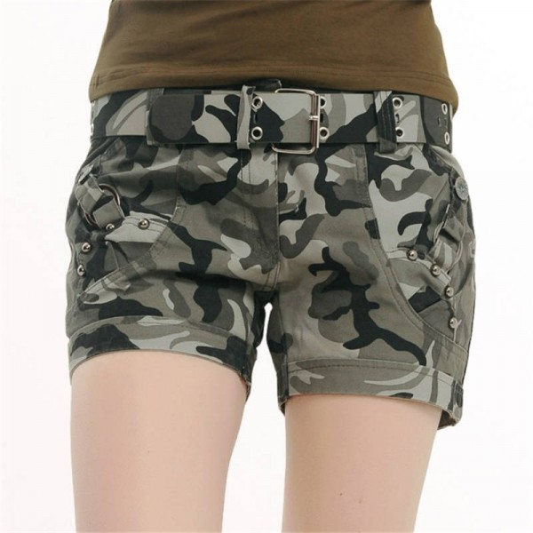New Arrival Summer Military Hiking Women Shorts Camouflage Print Casual Shorts Women Thumbnail