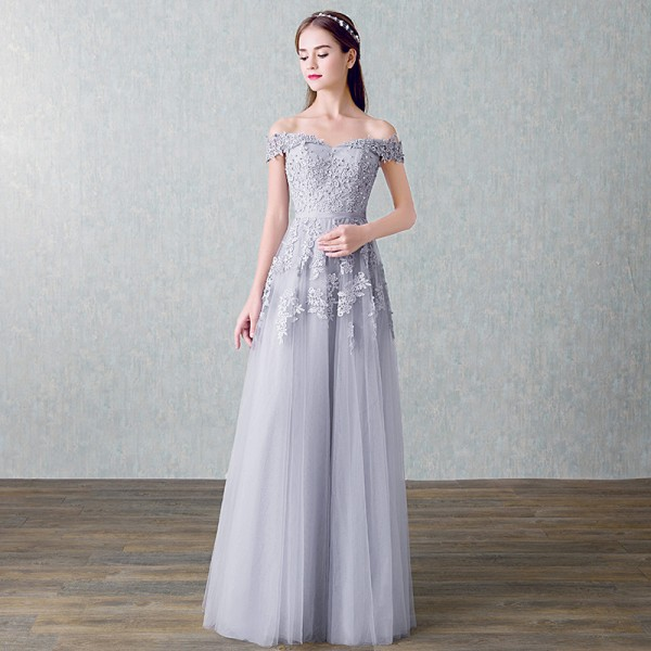 fdc003d93 ... New Arrived Women Beading Long Evening Dresses Elegant Lace Boat Neck  Banquet Sexy Ladies Formal Party ...