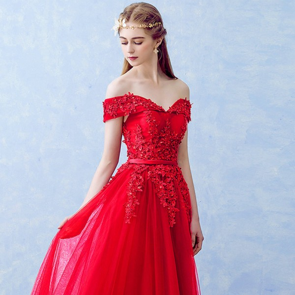 New Arrived Women Beading Long Evening Dresses Elegant Lace Boat Neck Banquet Sexy Ladies Formal Party Gown Extra Image 6