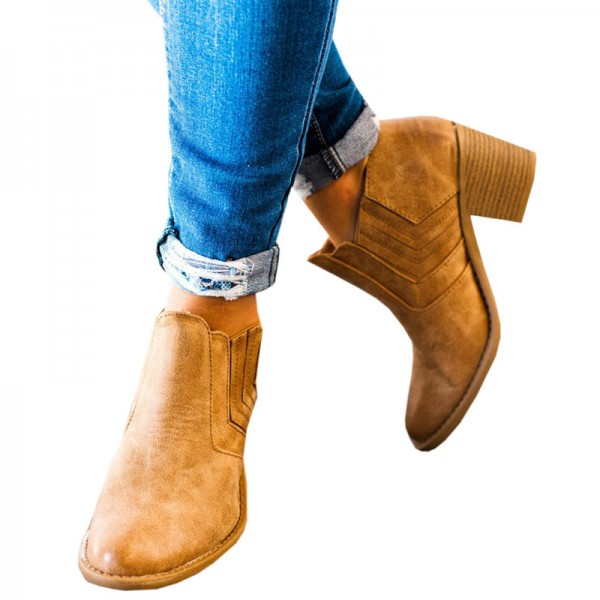 New Autumn and Winter Pointed Toe Buckle Low Heel Hollow Out Outdoor Motorcycle Riding Ankle Booties Boots