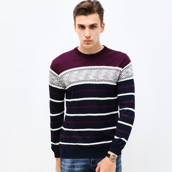 New Autumn Brand Clothing Sweater Men Fashion Business Casual Slim Fit Winter Pullover Men Striped Knitted Sweater Men Extra Image 3