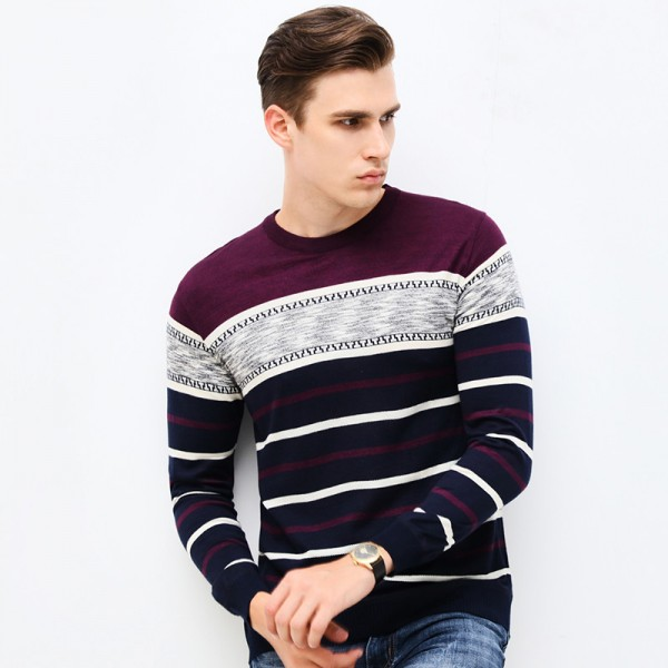 New Autumn Brand Clothing Sweater Men Fashion Business Casual Slim Fit Winter Pullover Men Striped Knitted Sweater Men Extra Image 4