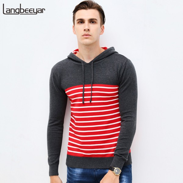 Buy New Autumn Clothing Sweater Men Fashion Hooded Slim Fit Winter ...