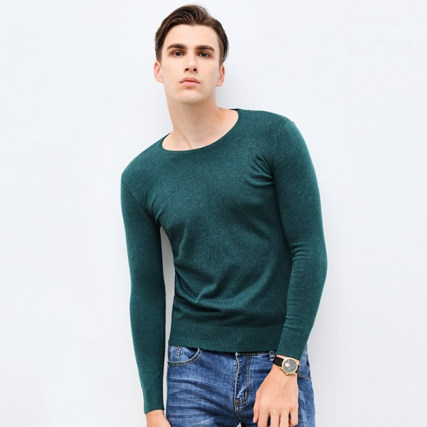 New Autumn Winter Brand Clothing Sweater Men Fashion O Neck Slim Fit Winter Pullover Men High Quality Knitted Sweater Extra Image 3