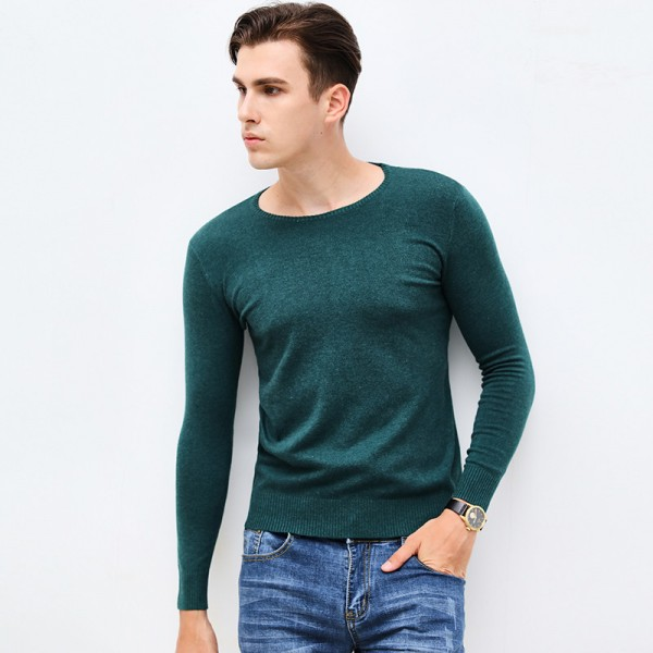 New Autumn Winter Brand Clothing Sweater Men Fashion O Neck Slim Fit Winter Pullover Men High Quality Knitted Sweater Extra Image 6