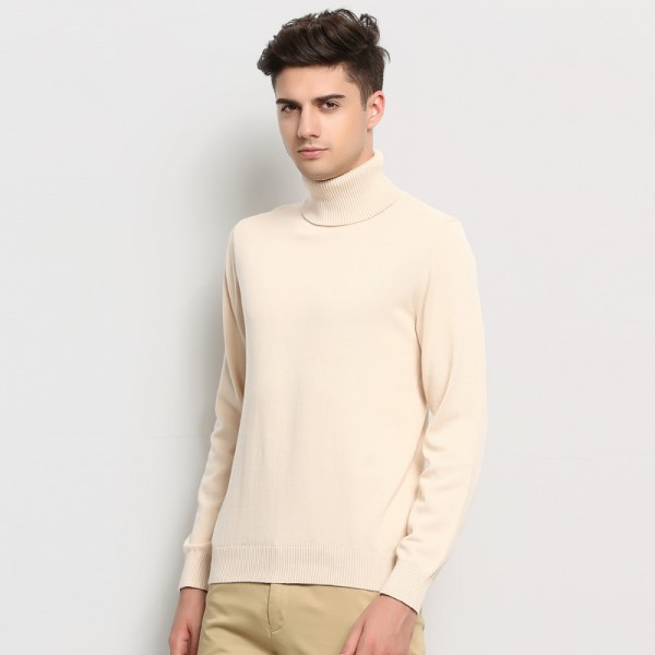 New Autumn Winter Brand Clothing Sweater Men Turtleneck Slim Fit Winter Pullover Men Solid Color Knitted Sweater Men Extra Image 4