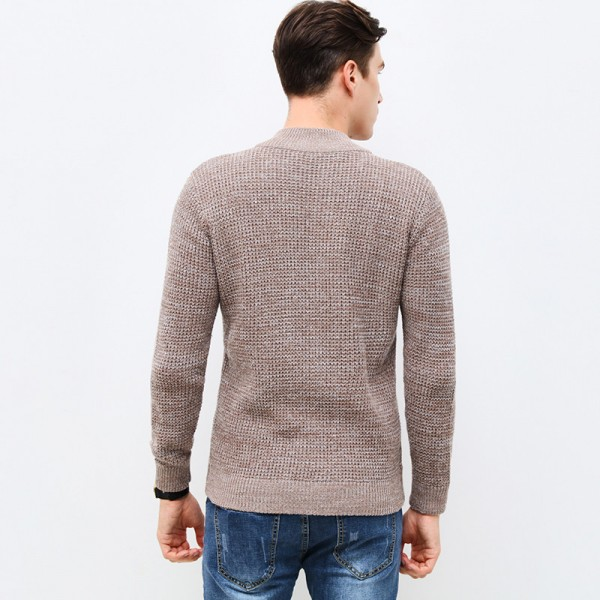 New Autumn Winter Fashion Brand Clothing Mens Sweaters Zipped Slim Fit Mens Cardigans High Quality Sweaters For Men Extra Image 4