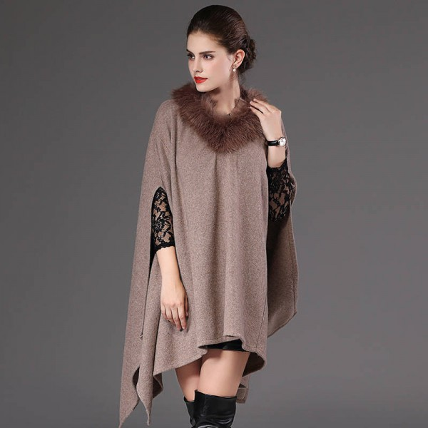 New Autumn Winter Long Pullover For Women Oversized Coat Knitted Poncho Sweater Extra Images 1