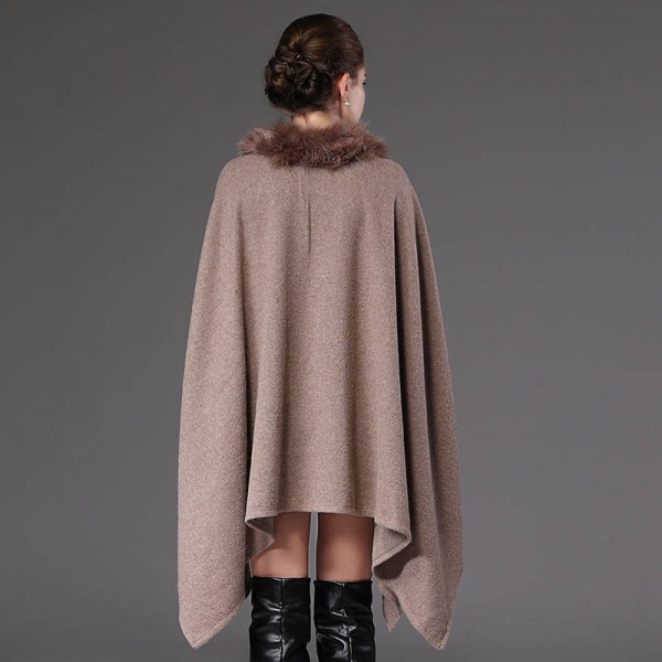 New Autumn Winter Long Pullover For Women Oversized Coat Knitted Poncho Sweater Extra Images 3