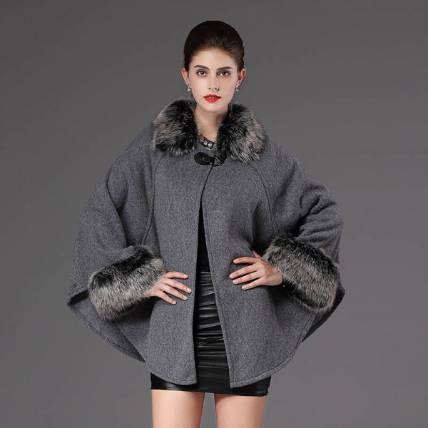 New Autumn Winter Warm Wrap Women Poncho Casual Cloak Warm Knitted Cardigan Women Extra Images 2